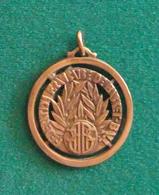 Médaille En Métal Jaune Sur Le Thème Du Basket-Ball - Autres