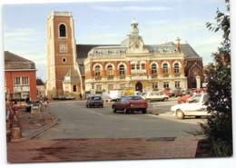 Somain.Hotel De Ville Et Eglise.  Edit Pierron. Renault 5 Citroen CX - Frankreich