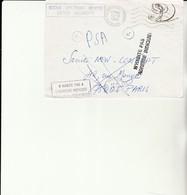 H 4 - Enveloppe Avec Cachet VILLERUPT  - PARIS   Retour Envoyeur - Cachets 02 V - Plaatfouten En Curiosa