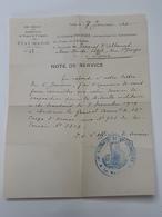 Note De Service Pour Médaille Militaire Avec Cachet Commandant Des Subdivisions De Nimes Et D'Avignon ... Lot43 . - 1914-18