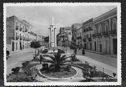 SICILIA - CASTELVETRANO - PIAZZA MATTEOTTI E MONUMENTO AI CADUTI - VIAGGIATA 1957 DA CASTELVETRANO - Italia