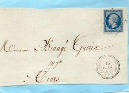 P.c.4135 St FERREOL D'AUROURE (41),cachet 22 Sur N° 14II,le 15/2/52,devant. - Postmark Collection (Covers)