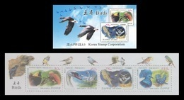 North Korea 2011 Mih. 5693/96 Fauna. Birds (booklet) MNH ** - Korea (Noord)