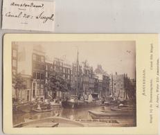 CDV - Amsterdam - Singel Bij De Brouwersgracht - ;A. Jager, Amsterdam - Old (before 1900)
