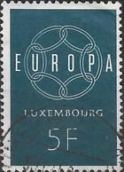 LUXEMBOURG 1959 Europa - 5f  Europa FU - Usati