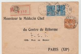 PARIS 23:  Lettre En FRANCHISE RECOMMANDEE De 1929 Affranchie Au Tarif Pour Paris - Marcofilie (Brieven)