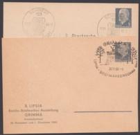 """Mi-Nr. PP8, """"Ulbricht"""", 2 Versch. Privat- GS, Sst - [6] Oost-Duitsland"""