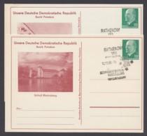"""Mi-Nr. PP9, """"Ulbricht"""", Unsere DDR, """"Brandenburg"""" Und """"Rheinsberg"""", Pass. Sst - DDR"""