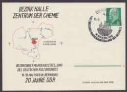 """Mi-Nr. PP9, """"Ulbricht"""", Bez. Halle, Zentrum Der Chemie, 1969, Pass. Sst - DDR"""