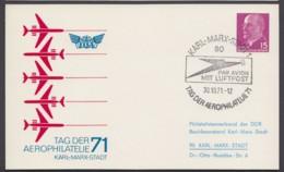 "Mi-Nr. PP10 C2/01b, ""Aerophilatelie 71"", Gedruckte Adresse. Pass. Sst - Postales Privados - Usados"