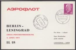 "Mi-Nr. PP10 D2/02, ""Aeroflot"", 1971, Pass. Stempel - DDR"