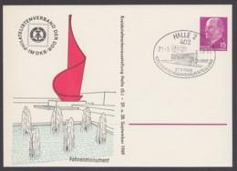 "Mi-Nr. PP10 ""Fahnenmonument Halle"", Pass. Sst. 1969 - DDR"