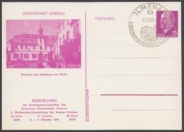 "Mi-Nr. PP10 ""Goethestadt Ilmenau"", 1969, Pass. Sst. - Postales Privados - Usados"