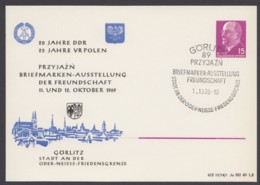 "Mi-Nr. PP10 ""Ausstellung Polen- DDR"", 1969, Pass. Sst ""Görlitz"" - DDR"
