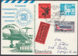 """Mi-Nr. PP17 C2/03, """"Aerosozphilex"""", 80, Eilbote Mit Pass. Zusatzfr., Ankunft - DDR"""