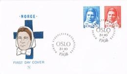 35212. Carta F.D.C. OSLO (Norge) Noruega 1968. Enfermera, Sanidad, Medicina - FDC