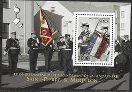 ST. PIERRE ET MIQUELON, SPM, 2019, MNH, POLICE, GENDARMES, FLAGS,  S/SHEET - Police - Gendarmerie
