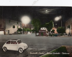 PONTICELLI-IMOLA-BOLOGNA-PIAZZA CENTRALE-NOTTURNO-AUTO-CAR-VOITURES-CARTOLINA VERA FOTOGRAFIA- VIAGGIATA IL 7-8-1967 - Imola