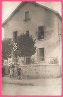 WW1 - Cp Photo - Dijon - Famille Devant Maison - Villa - Bicyclette - Animée - 1914 - Dijon