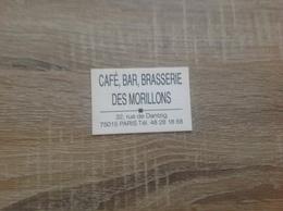 Acarte De Visite De Café Bar Brasserie   Des Morillons   Paris 15eme - Cartoncini Da Visita