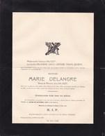 Château Du BIEZ WIERS Marie DELANGRE Veuve Jules SALIGOT Née à BARRY 1874 Décédée Wiers 1947 QUIEVY LEROY LEFEVRE - Décès