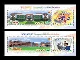 North Korea 2018 Mih. 6533/36 (Bl.995/96) Pyongyang Schools For Orphans. Football. Music. Computer. Chemistry MNH ** - Corea Del Nord