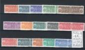 Italia / Italy 1955-81  -- Pacchi In Concessione --  Fil.stella Serie Incompleta  --- Incomplete  Set /** MNH / VF - Pacchi In Concessione