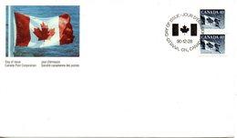 CANADA. N°1174 De 1990 Sur Enveloppe 1er Jour. Drapeau National. - Buste