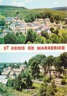 48 Saint Denis En Margeride Vue Génarale Chateau De Lescure (2 Scans) - Francia