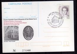 ITALIA REPUBBLICA ITALY REPUBLIC 2000 SAN MINIATO MOSTRA MERCATO TARTUFO INTERO CARTOLINA CARD ANNULLO SPECIALE - 6. 1946-.. Repubblica