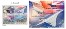 Togo 2019 Concorde Planes Aviation MS+S/S TG190518 - Célébrités