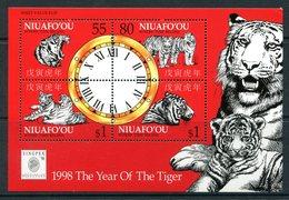 Niuafo'Ou - Tonga 1998 Chinese New Year - Year Of The Tiger MS MNH (SG MS277) - Tonga (1970-...)