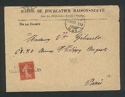 Marque Linéaire Ambulant Lausanne-Pontarlier Oblitérant Type Semeuse 10c Rouge  21 08 1907 - Poststempel
