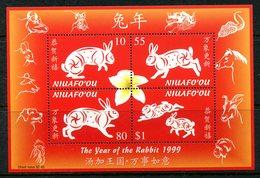 Niuafo'Ou - Tonga 1999 Chinese New Year - Year Of The Rabbit MS MNH (SG MS285) - Tonga (1970-...)