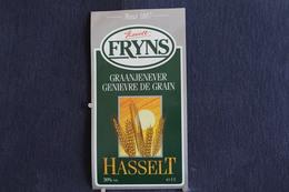 A.V.B.1/ Distillerie Stokerij  Hasselt Fryns, Graanjenever  - Genièvre De Grain  9 X 117 Cm - Autres