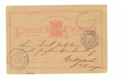 Entier Postal Mozambique 1893 Provincia Mocambique Cachet Zanzibar , Maritime La Reunion à Marseille Pour Stuttgart - Mozambique