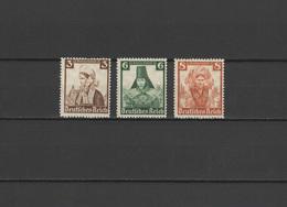 Germany 1935 Michel 588, 591-592 Costumes 3 Stamps MNH - Ongebruikt