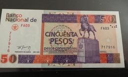 Rare Pesos Convertibles 50 UNC (NEUF)  1994 Gem  !!! Trés Beau Billet De 50 Pesos Convertibles Neuf ! - Cuba