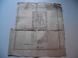 ¨PLAN Du TEMPLE De JERUSALEM,  Vers 1780,dressé Par PRIDEAUX - Mappe