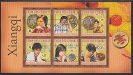 Xiangqi Players Comoros MNH M/S Of 6 Stamps 2010 - Games