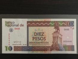 Rare Pesos Convertibles 10 UNC (NEUF)  1994 Gem !!! Beautiful Note !! - Cuba