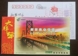 The Golden Gate Bridge In San Francisco,China 2007 Xinyu Post Postal Business Letter Advertising Pre-stamped Card - Brücken