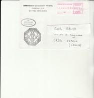 H 4 - Enveloppe Gendarmerie  Prévôtale   Avec Vignette Bureau Postal Militaire En Ex Yougoslavie - Marcofilie (Brieven)
