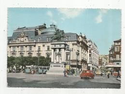 Cp, 63 , CLERMONT FERRAND ,place De Jaude,monument à Vercingétorix ,le Théâtre, Voyagée 1964 - Clermont Ferrand