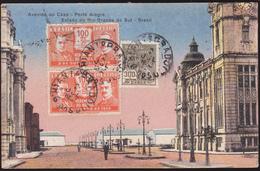 CPA Brasil / Brésil  - Porto Alegre - Avenida De Càes - Estado Do Rio Grande Do Sul - 1936 - Porto Alegre