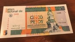 Rare Pesos Convertibles 5 UNC (NEUF)  1994 !!! - Cuba