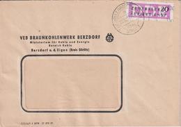 Brief, ZKD, Braunkohlenwerk Berzdorf, Bergbau, 1957 - Mineralien