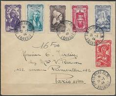 Frankreich - Brief  31.01.1944 / Paris Nach Paris XI / Siehe Fotos - France