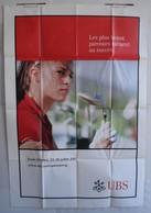 Affiche Publicitaire Abribus - Sport - Golf Féminin - Evian Masters - Haute Savoie - Juillet 2003 - Andere