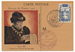 MAROC - Carte Fédérale - Journée Du Timbre 1945 - CASABLANCA - Maroc (1891-1956)